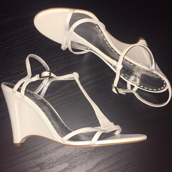 622a6b55dc Gianni Bini Strappy White Wedge Sandals. M_5b0770433800c5f0ee2ed654